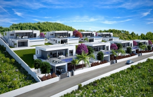 Modern New Build Villa in popular Urbanisation in first sea front in Benitachell