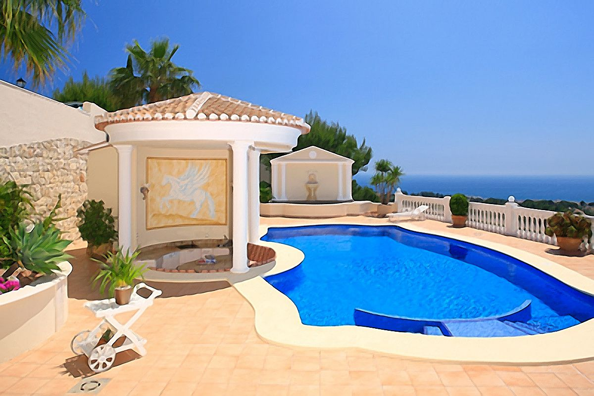 Villa with a stunning panoramic seaview in Moraira