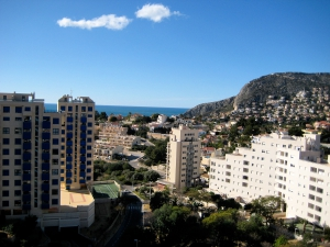 Apartment with seaview in Calpe on the Costa Blanca for sale